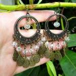Bronze Filigree Hoops, Cle..