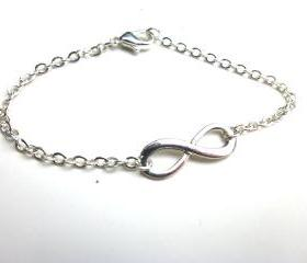 Infinity bracelet in sterling silver delicate simple jewelry dainty