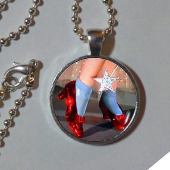 RUBY SLIPPERS PENDANT Wizard of Oz Necklace Wizard of Oz Jewelry Wizard of Oz Lover Gift